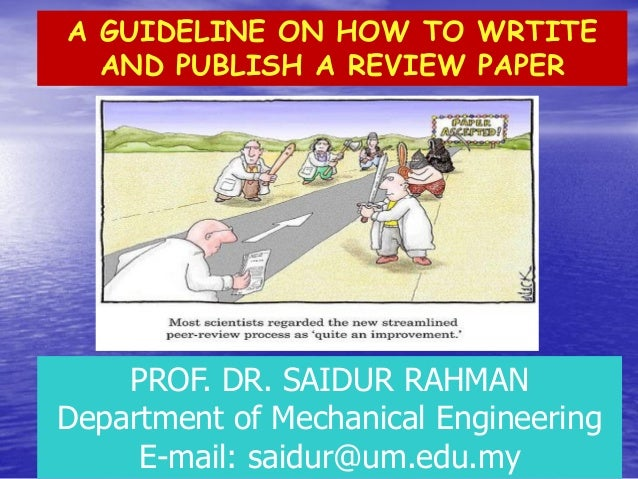 How to write review paper