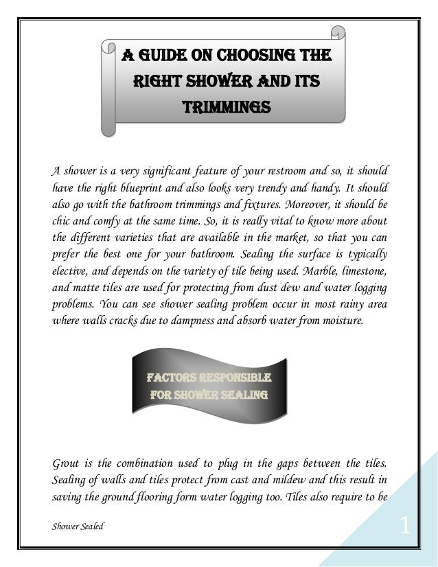 A Guide On Choosing The Right Shower And Its Trimmings