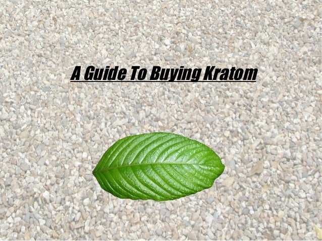A Guide To Buying Kratom