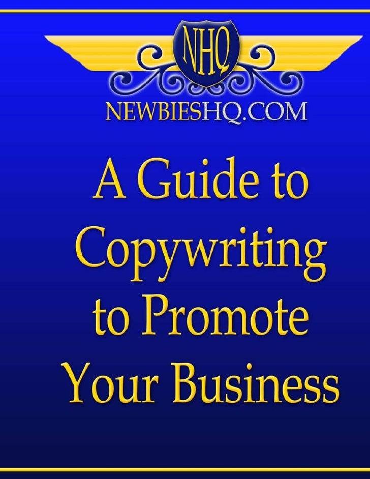 Page 2A Guide to Copywriting   to Promote Your      Business