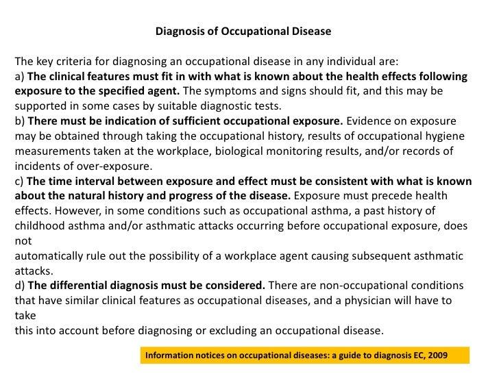 A guide to diagnosis ec
