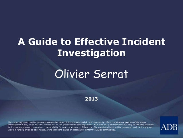 The views expressed in this presentation are the views of the author/s and do not necessarily reflect the views or policie...