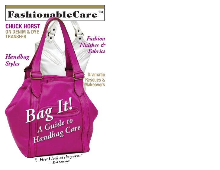 A guide to handbag care