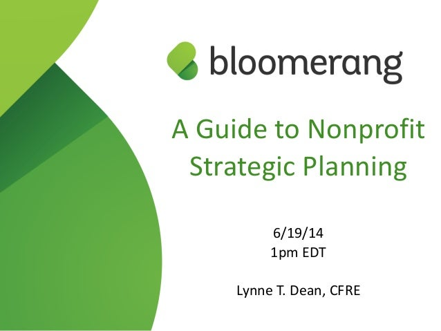 A Guide to Nonprofit Strategic Planning