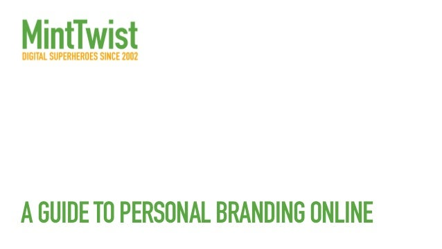 A guide to personal branding online