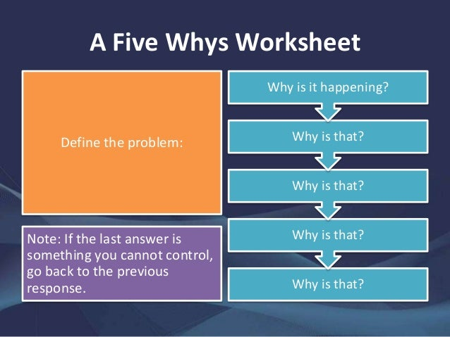 Worksheet 5 Whys Worksheet a guide to the five whys technique herbert 5 worksheet