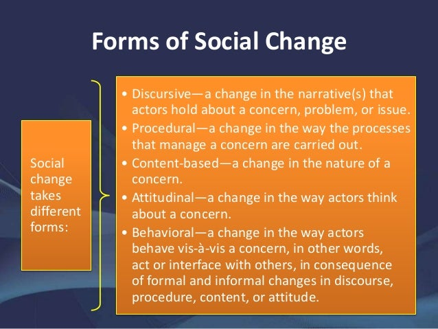 theories of social change Social change theories 1) functionalism (relates to linear development models of social change, see lenski) theory of order and stability or equilibrium theory: concept of stability is a defining characteristic of structure, defines activities that are necessary for the survival of the system, ie society has functional requisites or.