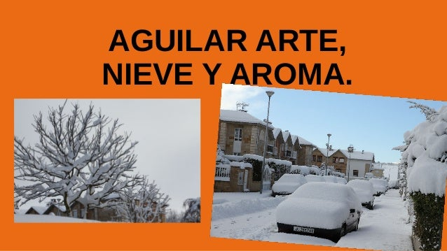 AGUILAR ARTE, NIEVE Y AROMA.