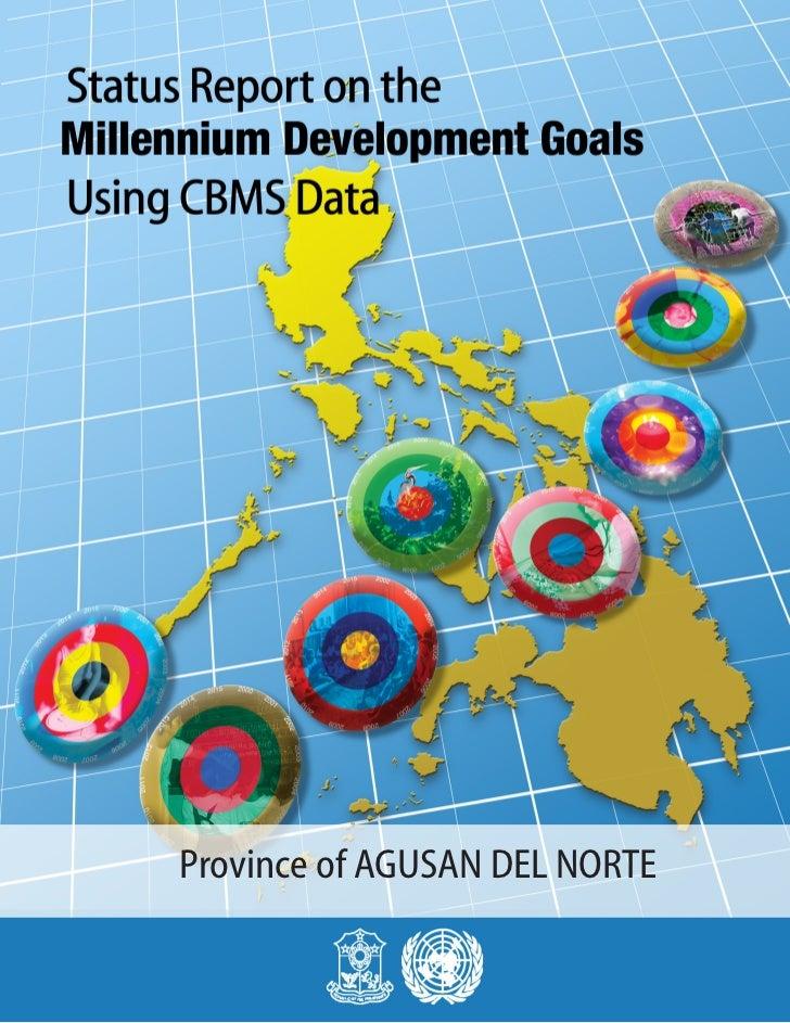 MDGs Provincial Status Report 2010 Philippines Agusan Del Norte