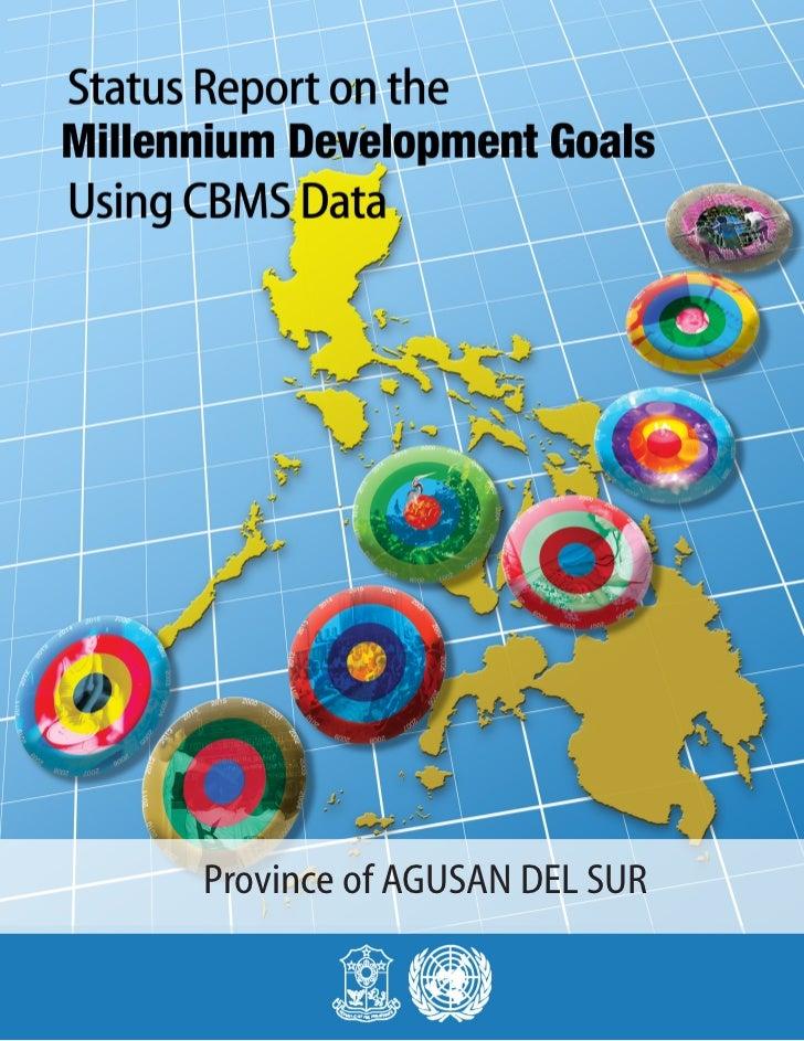MDGs Provincial Status Report 2010 Philippines Agusan Del Sur