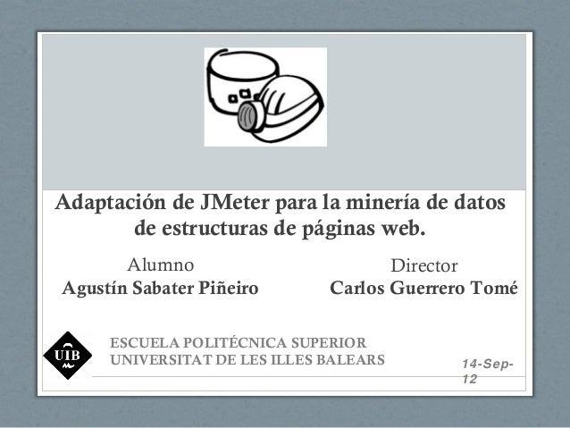Adaptación de JMeter para la minería de datos de estructuras de páginas web.