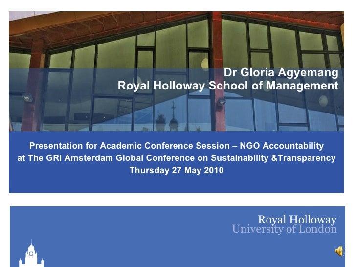 GRI Conference - 27 May - Agyemang - NGO Accountability