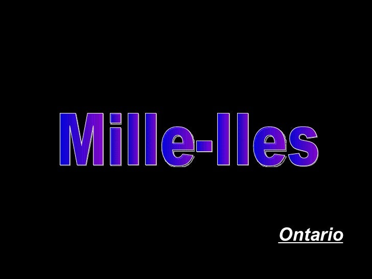 Mille-Iles Ontario