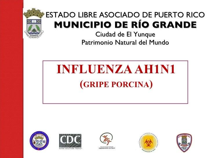 ESTADO LIBRE ASOCIADO DE PUERTO RICO MUNICIPIO DE RÍO GRANDE Ciudad de El Yunque Patrimonio Natural del Mundo INFLUENZA AH...