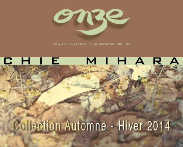 Collection Automne-Hiver 2014-15 de Chie Mihara