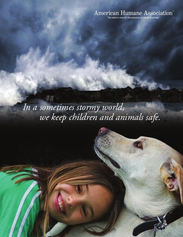 In a sometimes stormy world,     we keep children and animals safe.