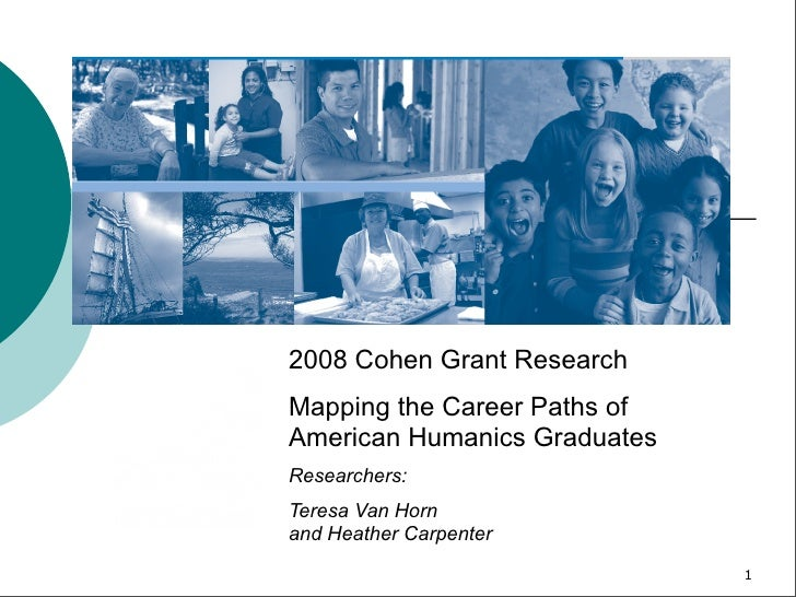 2008 Cohen Grant Research Mapping the Career Paths of American Humanics Graduates Researchers: Teresa Van Horn and Heather...