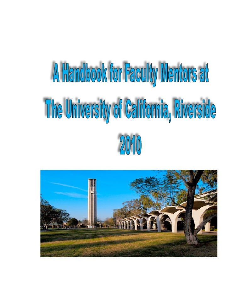 A handbook for faculty mentors