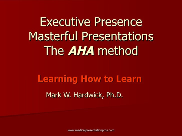 Aha Presentation Final April 30 09