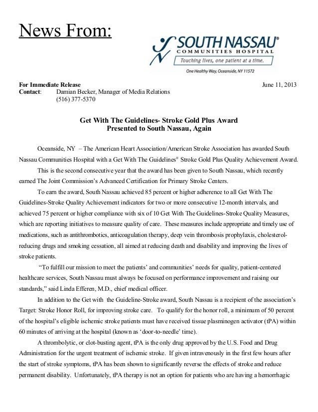 News From:For Immediate Release June 11, 2013Contact: Damian Becker, Manager of Media Relations(516) 377-5370Get With The ...