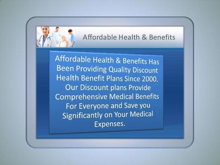 Discount Health Plan Presentation Version II