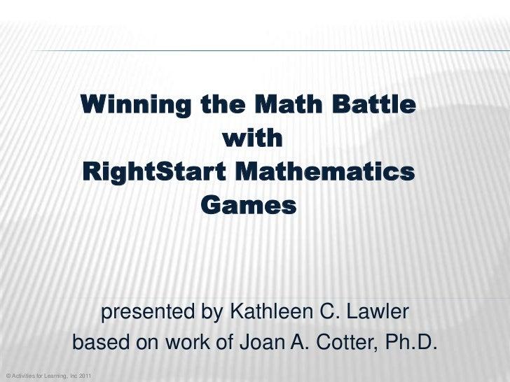 AHEA: Winning Math Games April 2011