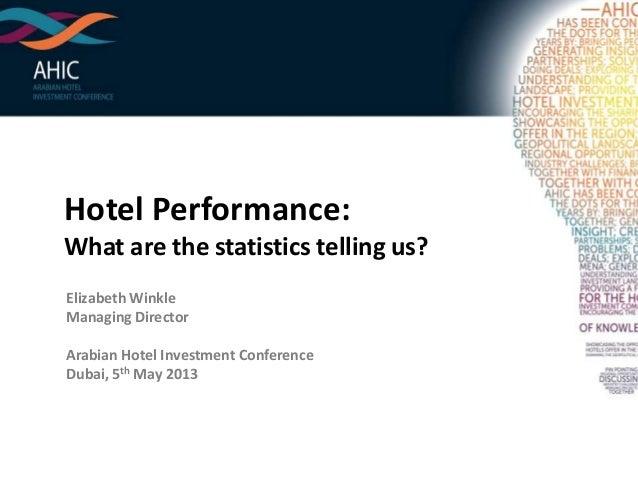 STR Global Hotel Performance Trends AHIC 2013