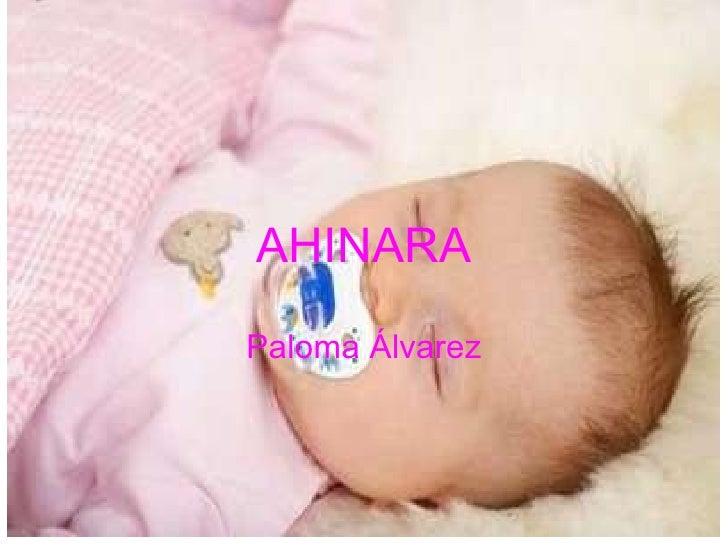 AHINARA Paloma Álvarez
