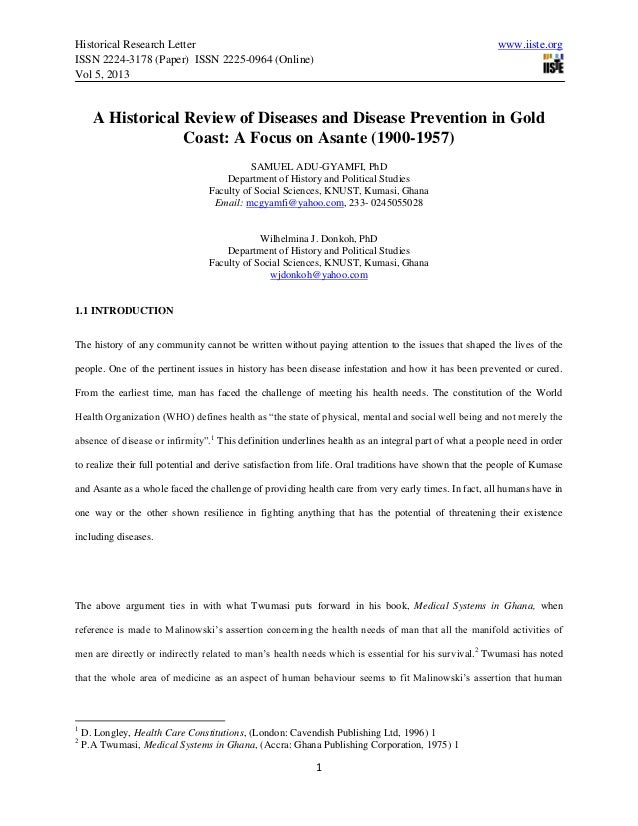 Historical Research Letter www.iiste.orgISSN 2224-3178 (Paper) ISSN 2225-0964 (Online)Vol 5, 20131A Historical Review of D...