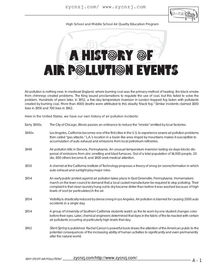 A history of air pollution events