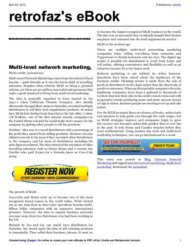 A history of_multi_level_network_marketing