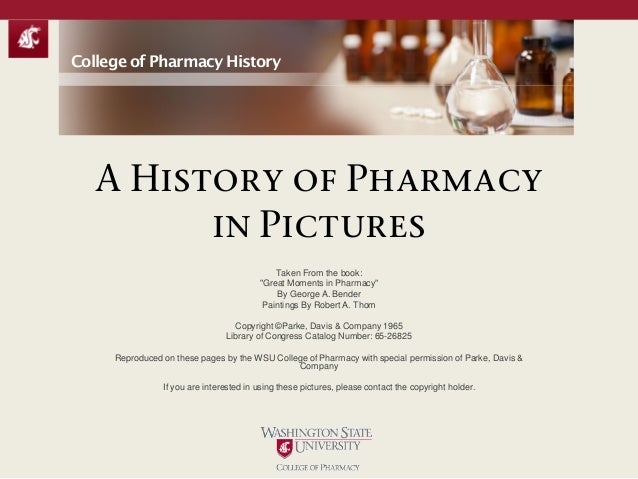 "A History of Pharmacy in Pictures Taken From the book: ""Great Moments in Pharmacy"" By George A. Bender Paintings By Robert..."