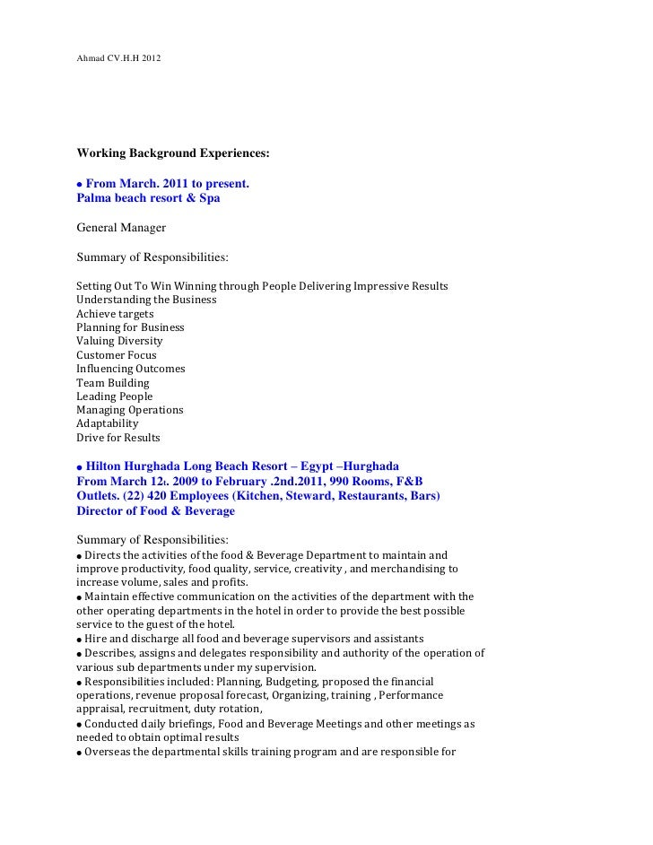food and beverage proposal letter