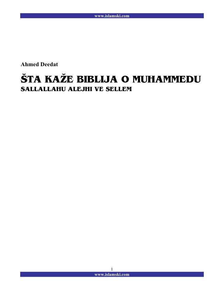 Ahmed Deedat   sta biblija kaze o muhammedu s.a.v.s.