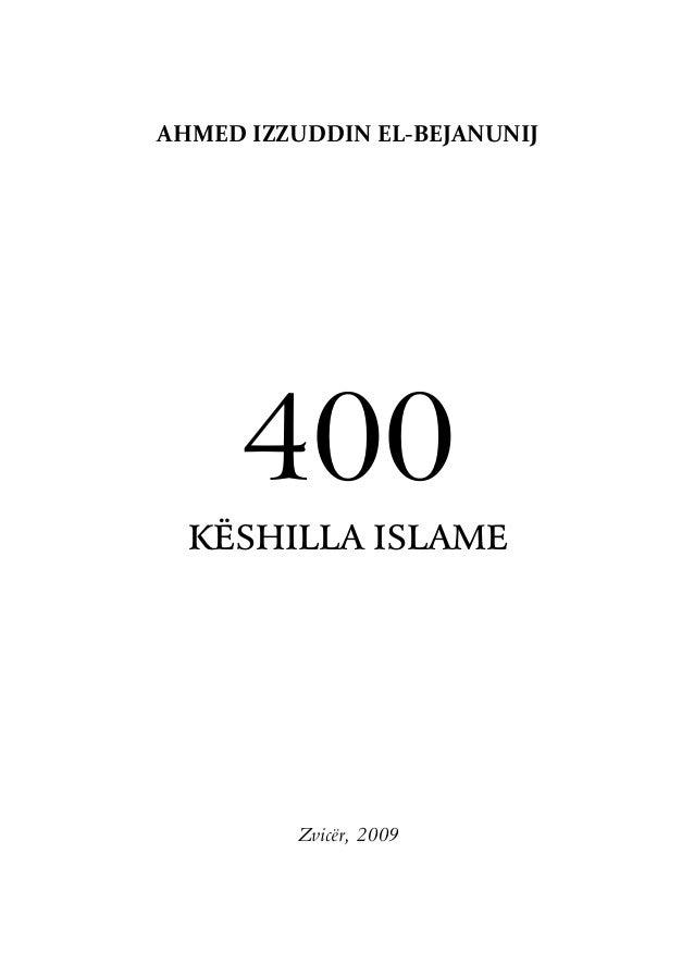 Ahmed izzuddin el bejanunij  - 400 keshilla islame