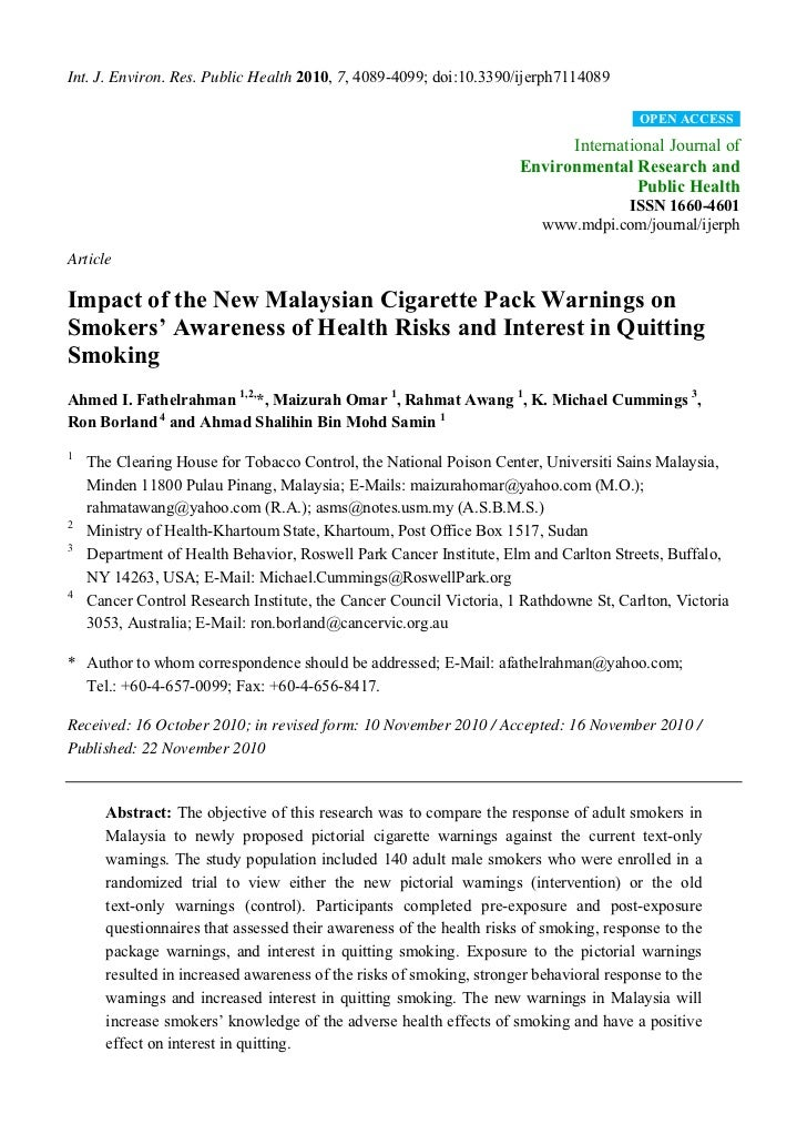 Int. J. Environ. Res. Public Health 2010, 7, 4089-4099; doi:10.3390/ijerph7114089                                         ...