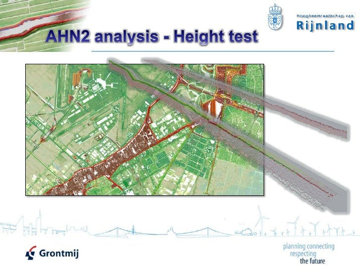 Evaluating the Height of Regional Dikes of HH Rijnland with LiDAR using ArcGIS 10 by Grontmij