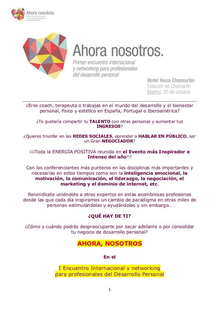 ¿Eres coach, terapeuta o trabajas en el mundo del desarrollo y el bienestar       personal, físico y estético en España, P...