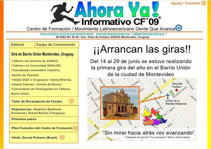 Ayuda / Contacto            Centro de Formación / Movimiento Latinoamericano Gente Que Avanza                    www.youtu...