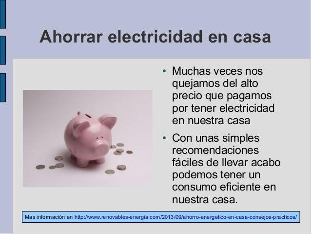 Ahorrar electricidad en casa - Ahorrar en casa trucos ...