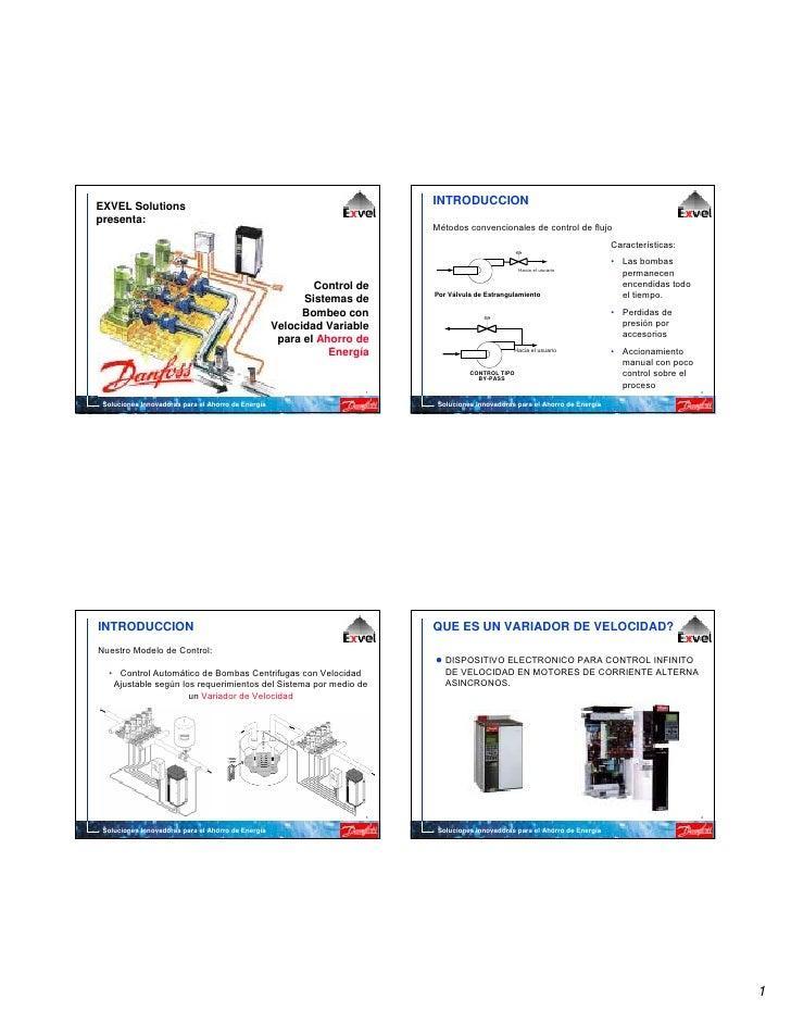Ahorro de energia con variadores de velocidad danfoss