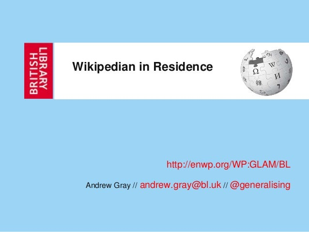 AHRC Wikipedian in Residence Report
