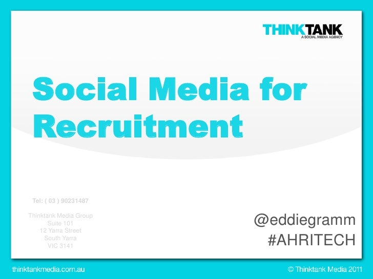 Social Media for Recruitment<br />@eddiegramm<br />#AHRITECH<br />