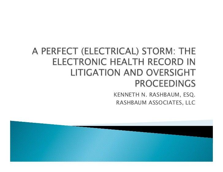 KENNETH N. RASHBAUM, ESQ. RASHBAUM ASSOCIATES, LLC