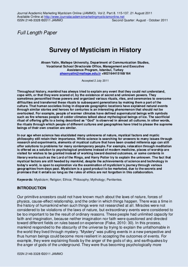Journal Academic Marketing Mysticism Online (JAMMO). Vol 2. Part 8. 115-137. 21 August 2011 Available Online at http://www...
