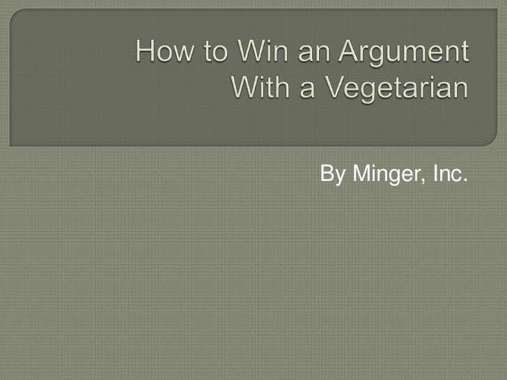 the argument for vegetarianism essay