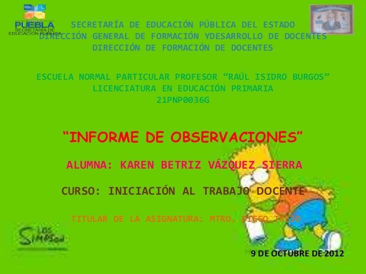 SECRETARÍA DE EDUCACIÓN PÚBLICA DEL ESTADODIRECCIÓN GENERAL DE FORMACIÓN YDESARROLLO DE DOCENTES          DIRECCIÓN DE FOR...