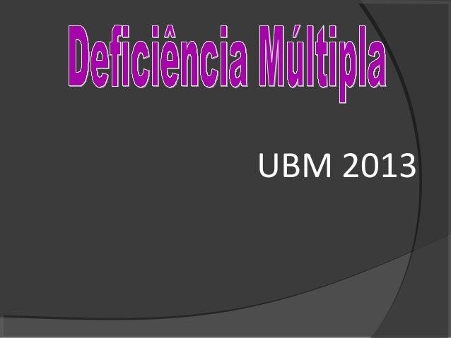 UBM 2013