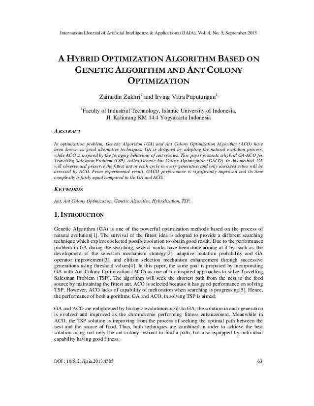 International Journal of Artificial Intelligence & Applications (IJAIA), Vol. 4, No. 5, September 2013 DOI : 10.5121/ijaia...