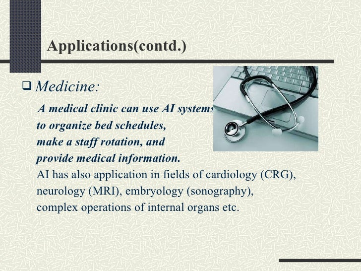 artificial intelligence in medicine essay Essay will explore the history of artificial intelligence in medicine (aim) as it  applies to various elements of medical practice, including.